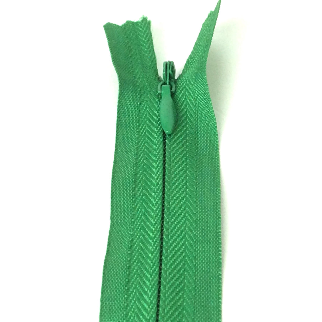 Emerald green invisible zipper