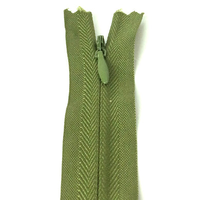 Olive green invisible zipper