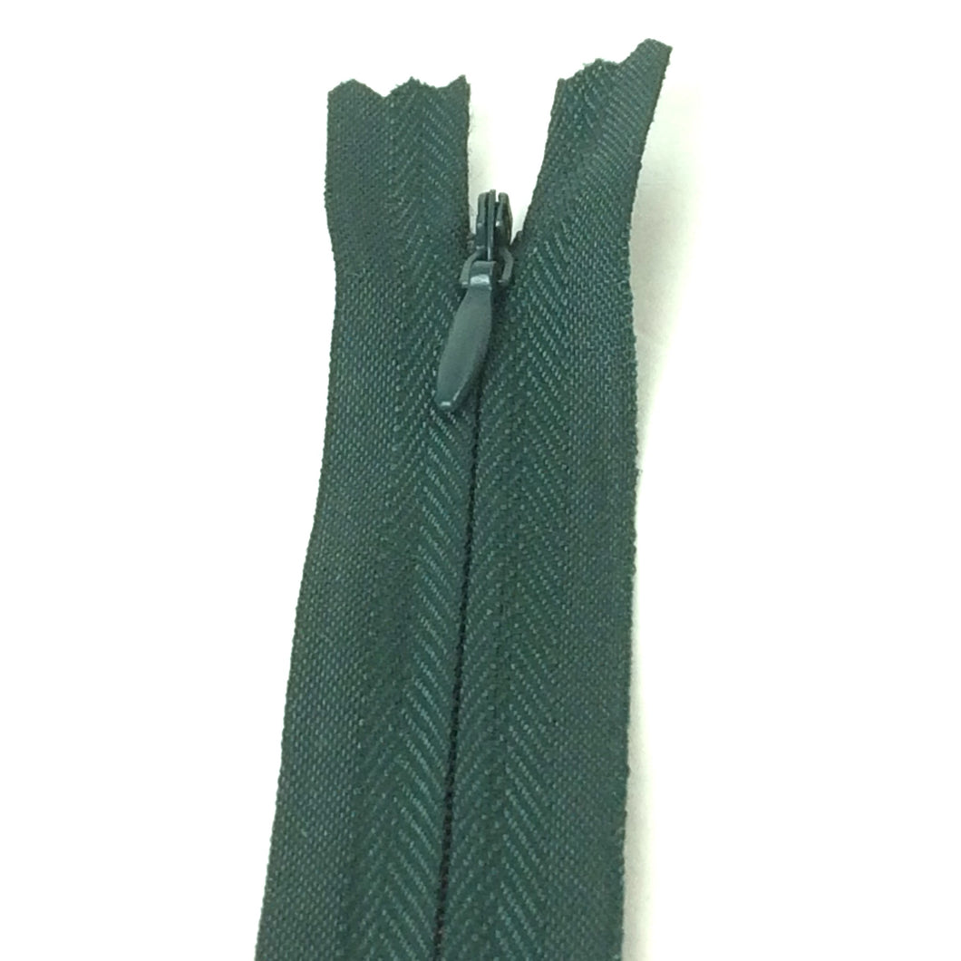 Dark green invisible zipper