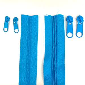 Turquoise Continuous Zipper Roll, Standard Style, Size 3 and 5