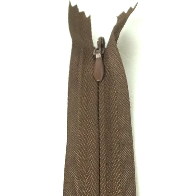 Invisible / Concealed Zippers  - Brown