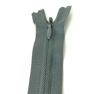 Invisible / Concealed Zippers  - Dark Grey