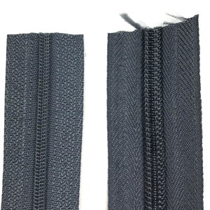 Dark Grey Continuous Zipper Roll, Standard Style, Size 3 and 5