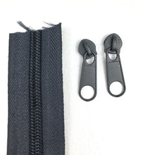 Load image into Gallery viewer, Dark Grey Continuous Zipper Roll, Standard Style, Size 3 and 5