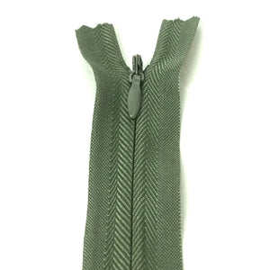 Invisible / Concealed Zippers  - Darker Olive Green