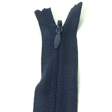 Invisible / Concealed Zippers  - Navy