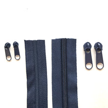 Load image into Gallery viewer, Navy Continuous Zipper Roll, Standard Style, Size 3 and 5