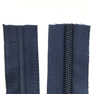 Navy Continuous Zipper Roll, Standard Style, Size 3 and 5