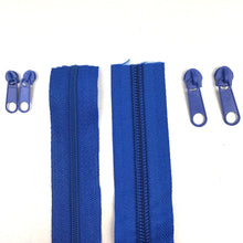 Load image into Gallery viewer, Royal Blue Continuous Zipper Roll, Standard Style, Size 3 and 5