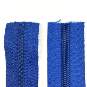 Royal Blue Continuous Zipper Roll, Standard Style, Size 3 and 5