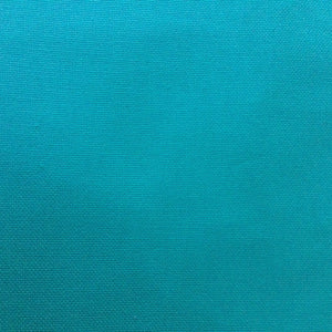 Turquoise Canvas fabric, Plain colours, medium weight.