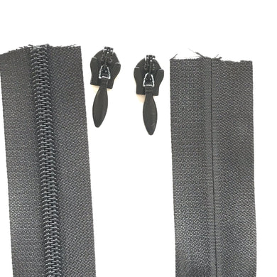 Heavy Duty Black Invisible Continuous Zipper Roll # 5