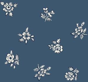Liberty Of London Fabrics | Flower Show Winter | Abbeywood Blue