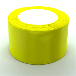 Satin Ribbon | Single Faced | Bright Yellow
