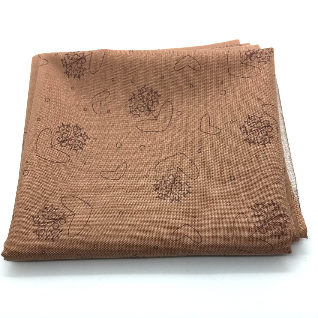 Red Rooster Basically Hugs Fabric Collection |  Brown Hearts and Circles 25040