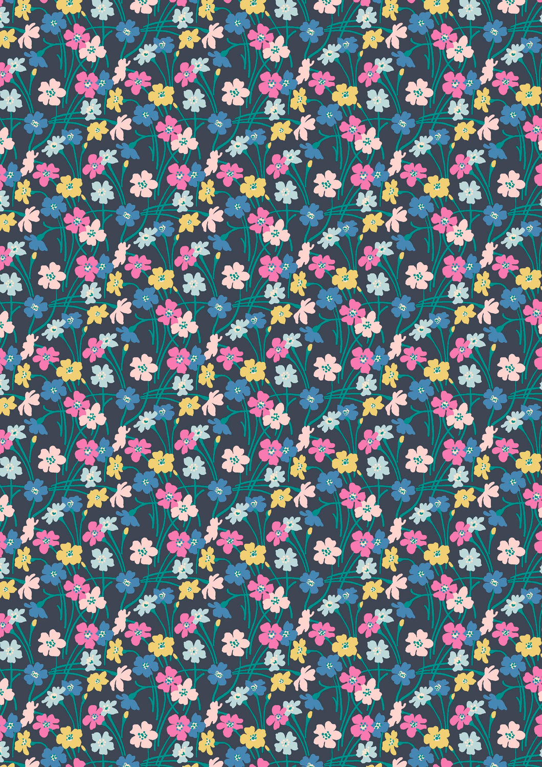 Dancing buttercups 923A Liberty of London Deco Dance collection