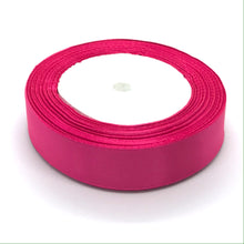 Load image into Gallery viewer, Satin Ribbon | Single Faced | Cerise Pink
