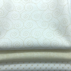 Red Rooster Basically Hugs Fabric Collection | Cream Cross Hatch 25045