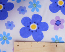 Load image into Gallery viewer, Blue / purple  Floral Polycotton fabric