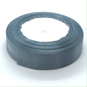 Satin Ribbon | Single Faced | Dark Grey