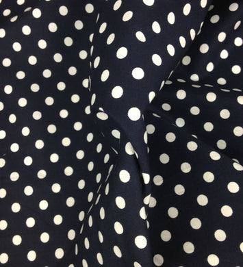 Navy Spotted Cotton fabric