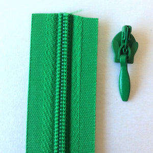 Emerald Green Continuous Zipper Roll, Invisible / concealed, Size 3