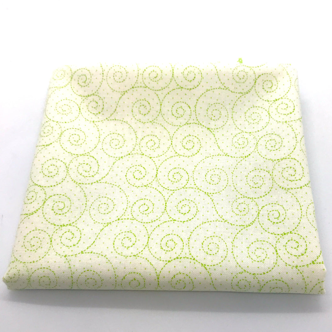 Red Rooster  Basically Hugs Fabric Collection | Green Swirls 25041