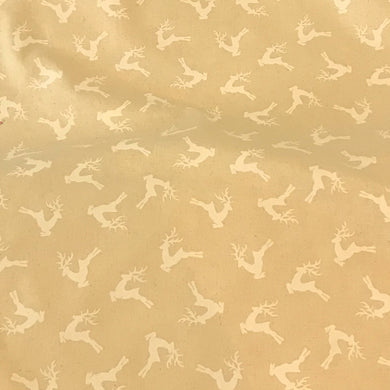 Christmas Deer or Stags 100% Cotton Fabric by John Louden