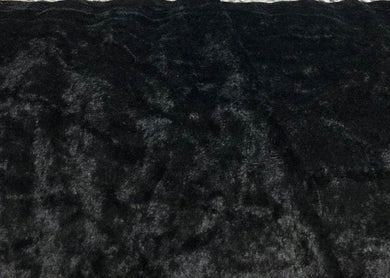 Black Velour, Crushed Velvet Velour - Stretchy