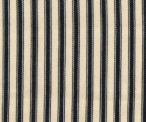 Ticking Fabric, Black stripes