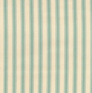 Ticking Fabric, Light Blue, Duck Egg stripes
