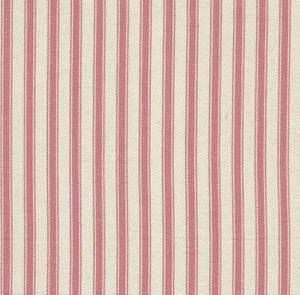 Ticking Fabric, pink stripes