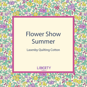 Liberty Of London Fabrics | Flower Show Summer | Emily Silhouette Flower Blue
