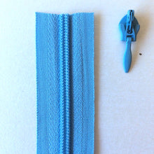 Load image into Gallery viewer, Mid Blue Continuous Zipper Roll, Invisible / concealed, Size 3
