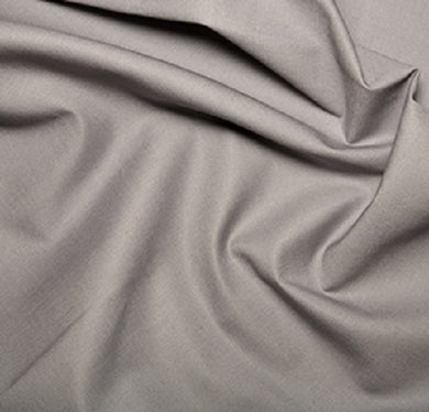 Mid Grey Plain Klona Cotton Fabric