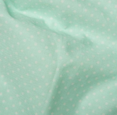 Mint Green spotted Cotton Fabric, Tiny Spots cotton fabric