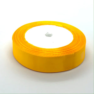 Satin Ribbon | Single Faced |  Orangey Gold