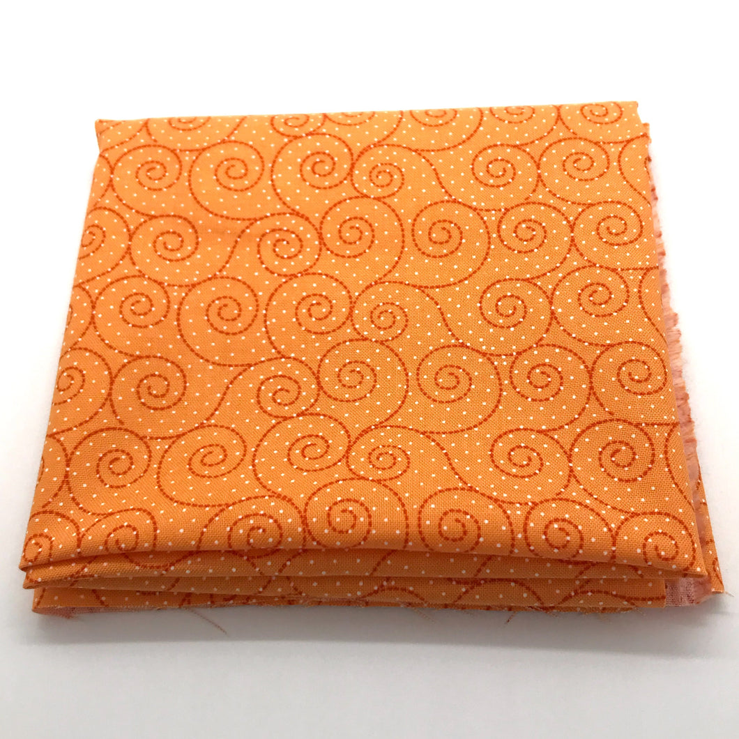 P & B Basically Hugs Fabric Collection | Orange Swirls 25041