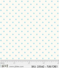 Load image into Gallery viewer, Red Rooster Basically Hugs Fabric Collection | Blue/Turquoise Dots 25042