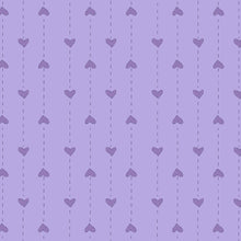 Load image into Gallery viewer, Red Rooster  Basically Hugs Fabric Collection | Purple Small hearts Stripe 25044