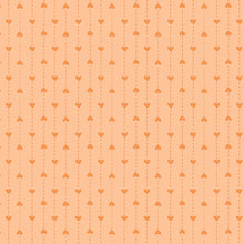 Load image into Gallery viewer, P & B Basically Hugs Fabric Collection | Orange Small hearts Stripe 25044