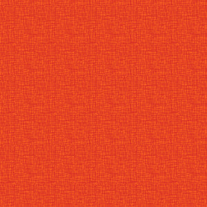 Red Rooster Basically Hugs Fabric Collection | Orange Cross Hatch 25045