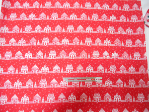 Red Houses Polycotton fabric