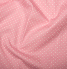 Load image into Gallery viewer, Pink spotted Cotton Fabric, Tiny Spots cotton fabric