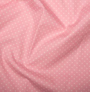Pink spotted Cotton Fabric, Tiny Spots cotton fabric