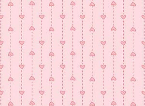 Red Rooster  Basically Hugs Fabric Collection | Pink Small Heart Stripe 25044