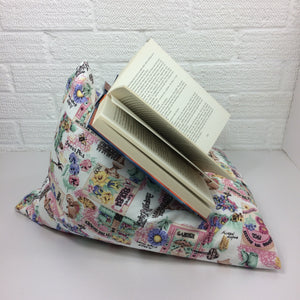 Pink Gardening Theme Book Holder Bean Bag