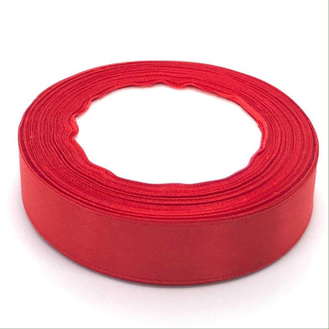 Satin Ribbon | Single Faced | Red