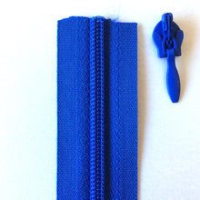 Load image into Gallery viewer, Royal Blue Continuous Zipper Roll, Invisible / concealed, Size 3