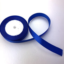 Load image into Gallery viewer, Satin Ribbon | Single Faced | Royal Blue